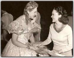 Maureen chats with Maliza Korjus, the Viennese opera beauty making her debut in MGM's The Great Waltz.